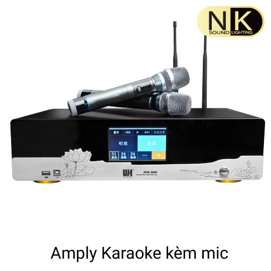Amply karaoke kèm vang số kỹ thuật số hh 500