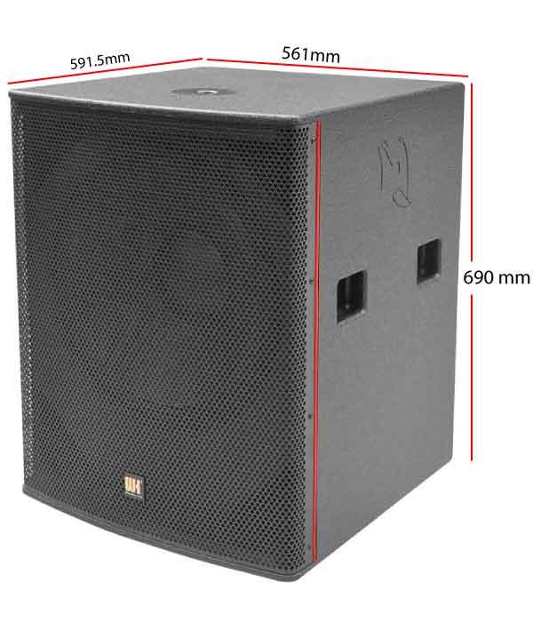 kích thước Loa sub điện Bass 50