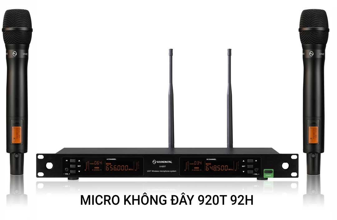 Micro không dây cao cấp Soundnow S920T